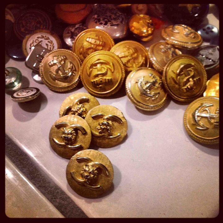 Along with lots of anchors and glass buttons were these!