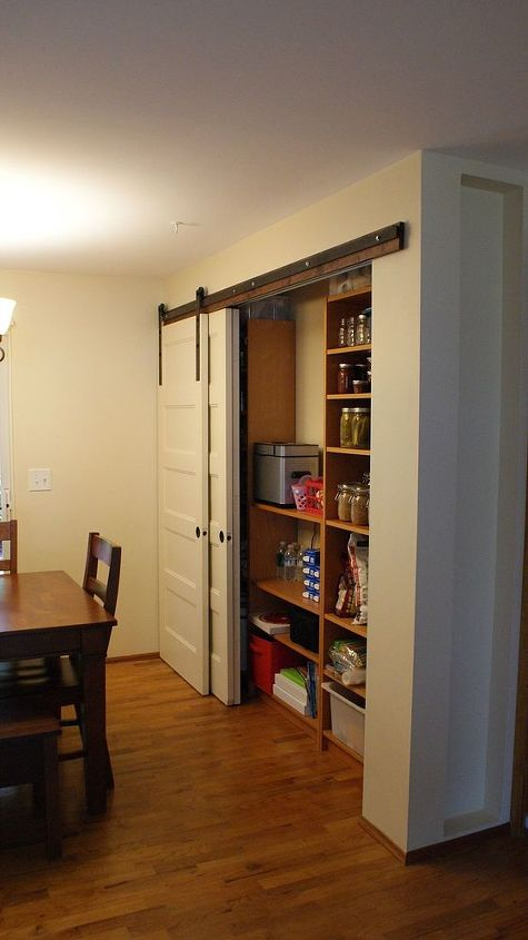 New Pantry Build With Sliding Barn Style Doors