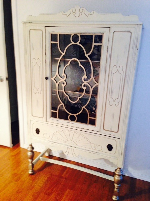 hutch transformation, painted furniture