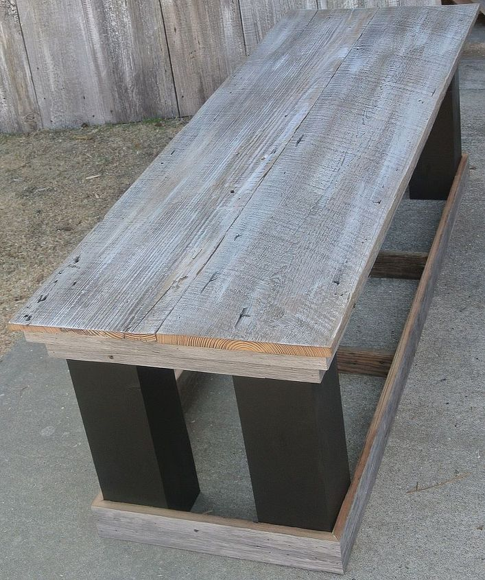 Antique Headboard Bench: Barn Wood Headboard And Matching Bench Seat By Vintage