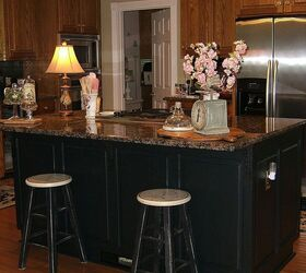... Black Kitchen Islands Painting An Oak Island Black Hometalk ...