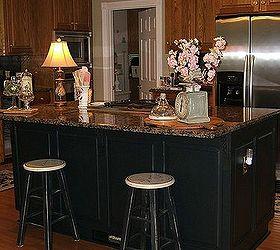 Nice Painting An Oak Island Black, Kitchen Cabinets, Kitchen Design, Kitchen  Island, Painting