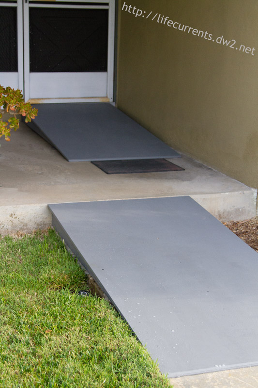 wheelchair accessible ramps diy for the home, curb appeal, decks, diy, painting, woodworking projects