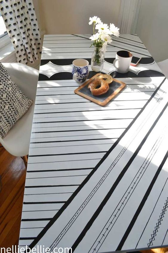 give a table a quick makeover with paint sharpies, painted furniture