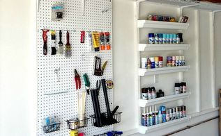 diy custom built garage organizer, diy, garages, organizing, storage ideas, After