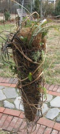 chicken wire planter, crafts, gardening, use live horse rope for better flexibility