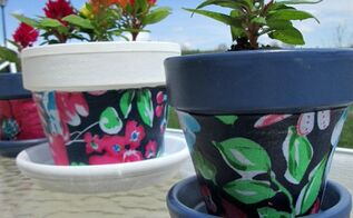 diy flower pots, crafts, decoupage, flowers, gardening