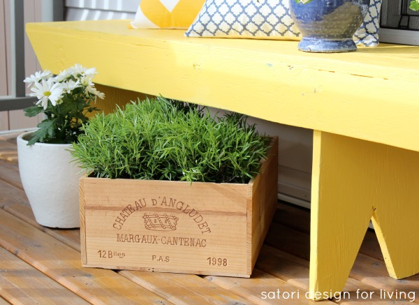 add some cottage charm to your front porch this spring, home decor, outdoor furniture, outdoor living, painted furniture, porches