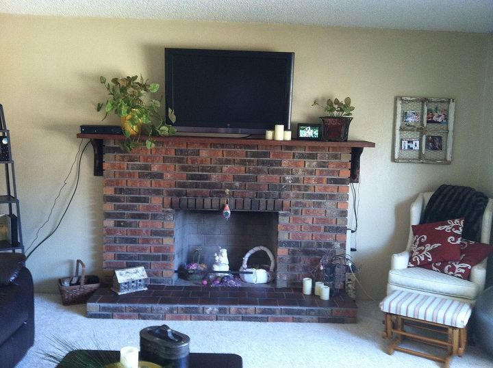 remember the fireplace i asked you all about a couple months ago, appliances, diy, fireplaces mantels, home decor, painting, before