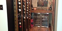 reclaimed wine nook, diy, flooring, hardwood floors, home improvement, repurposing upcycling, shelving ideas, storage ideas, tile flooring, woodworking projects, Finished Wine Nook completed by Hello I Live Here
