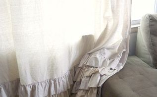 ruffled dropcloth curtains, crafts, home decor, reupholster, window treatments, windows