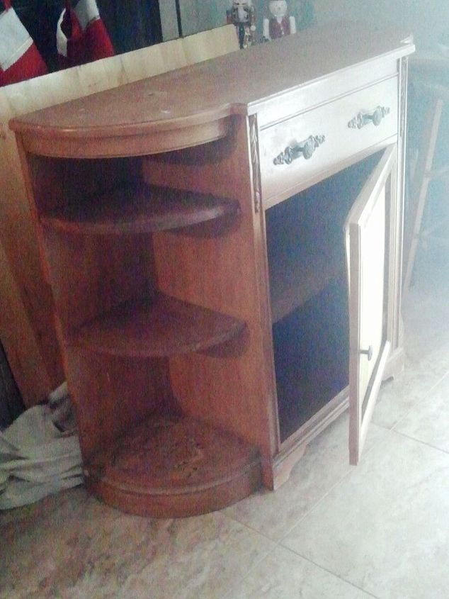 refreshed server, painted furniture, woodworking projects, Server before The door wouldn t close