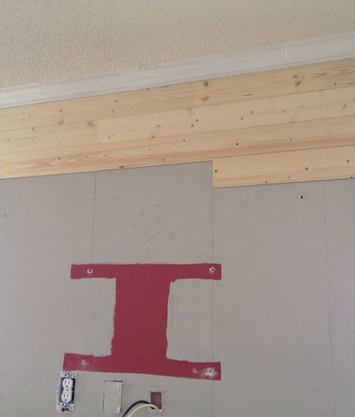 from our boring wall to our wood planked wow wall, diy, how to, living room ideas, painting, wall decor, woodworking projects