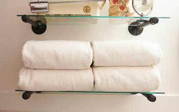 industrial shelf solution for the guest bath or any room, bathroom ideas, shelving ideas, storage ideas, Accessorized