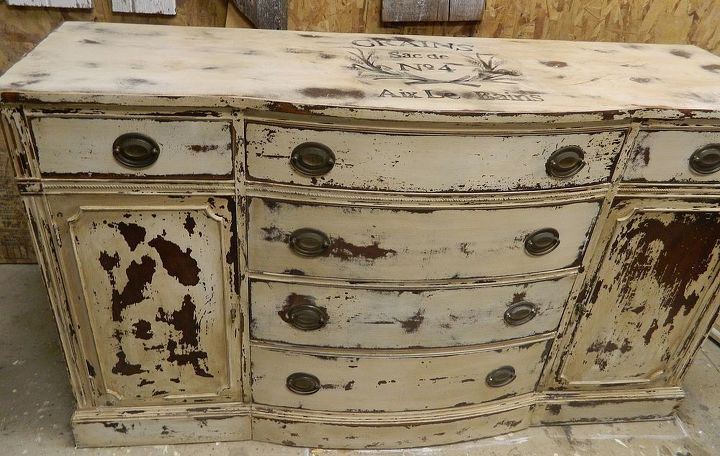 adding a graphic to furniture, painted furniture, rustic furniture