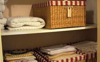 organized linen closet, closet, organizing