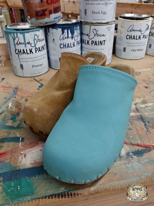 7d80f1a70a3 painting shoes or clogs with chalk paint by annie sloan, chalk paint,  painting,