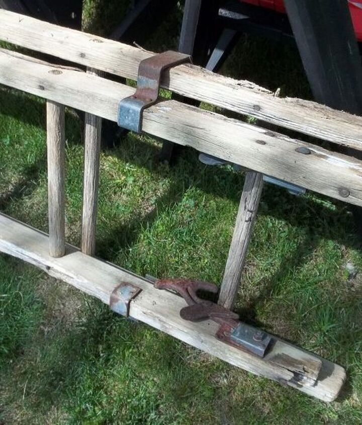 Ladder with hardware - some to be kept - other parts needed to be removed to separate the ladders