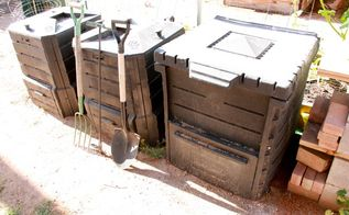 using a 3 bin composting system for your garden, composting, gardening, go green