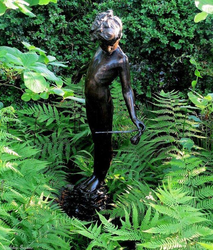 statue in the ferns