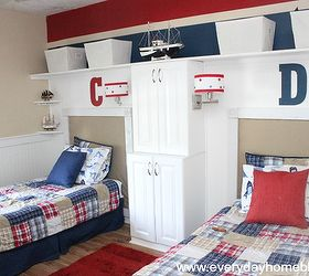 Pottery Barn Isnpired Boys Bedroom Reveal, Bedroom Ideas, Home Decor, Red  Blue And
