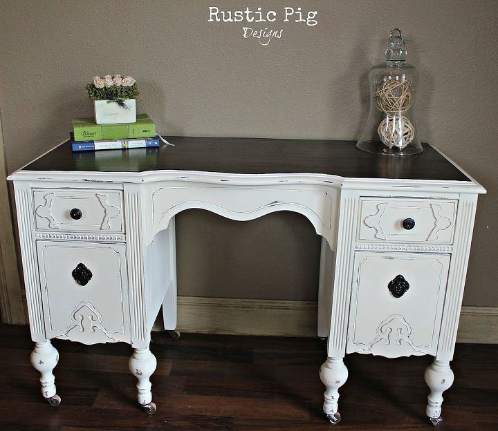 an end table or a child s desk, painted furniture, rustic furniture