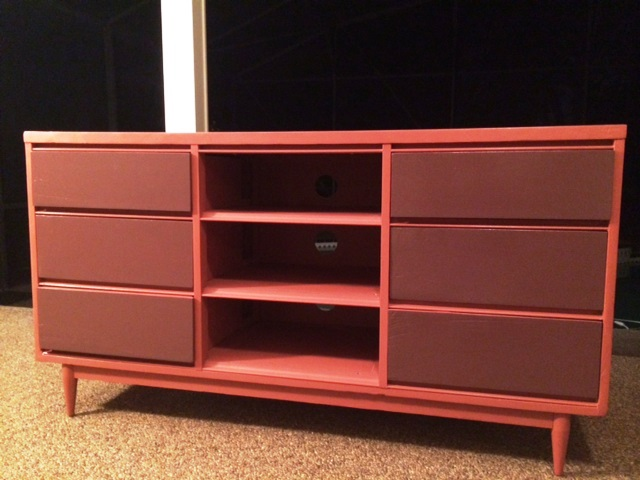 mid century dresser turned tv dresser do you remember my post a, chalk paint, painted furniture, repurposing upcycling