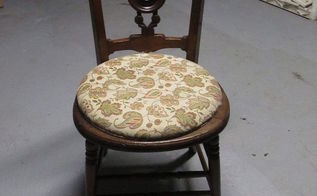 french country chairs with burlap seat, painted furniture, Before