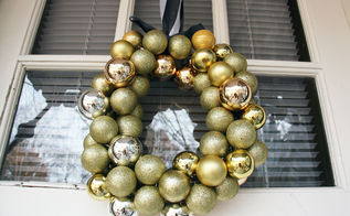 diy ornament wreath for less than 10, crafts, seasonal holiday decor, wreaths, This ornament wreath took me about an hour to make And because I already had some of the supplies on hand it cost about 5