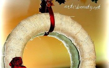 what do you do with a broken lampshade?? You make a wreath!