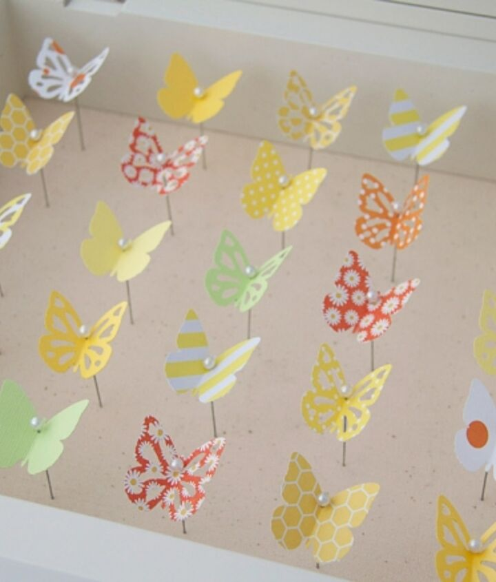 all aflutter with spring butterflies, crafts
