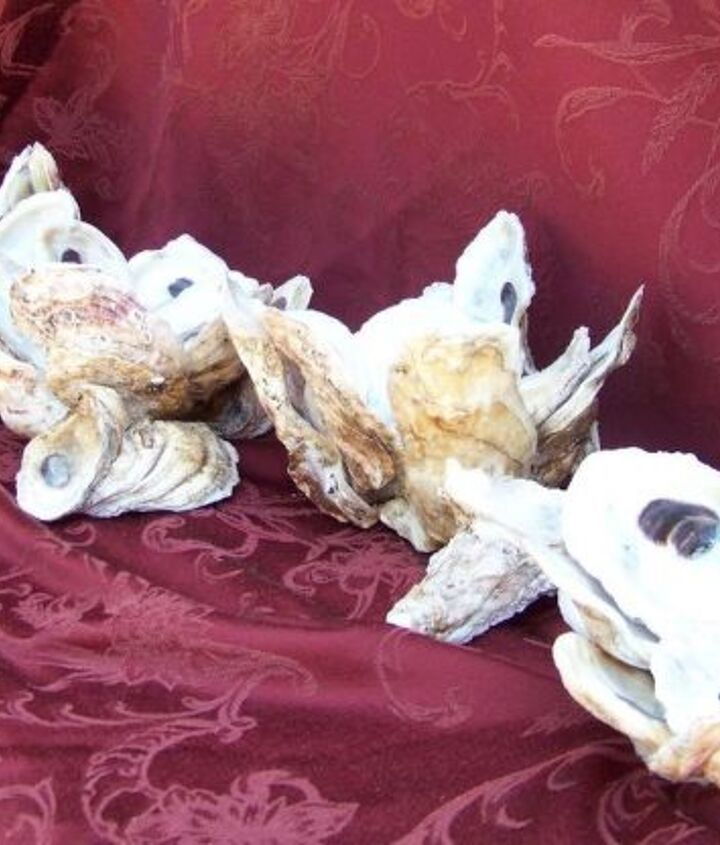 oyster shell flower vase table center pieces, crafts