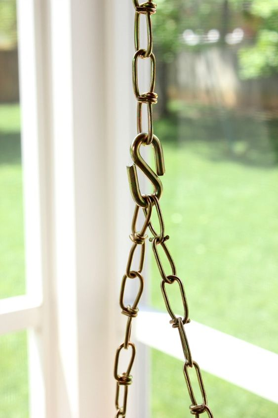 rope wrapped chain for a porch swing, outdoor furniture, outdoor living, painted furniture, porches, repurposing upcycling
