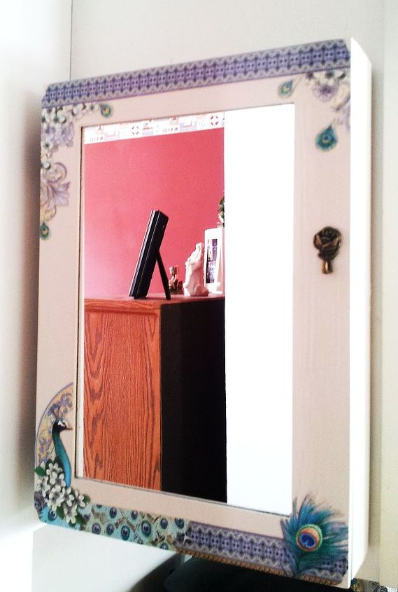 jewelry armoire turned beautiful kitchen key cabinet, kitchen design, repurposing upcycling, The after photo