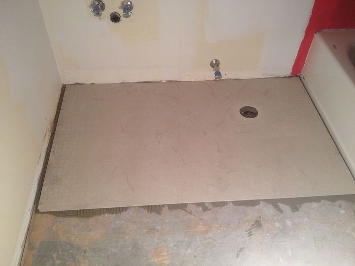 tiling bathroom floors use cement board to create a rock solid foundation, bathroom ideas, flooring, tile flooring