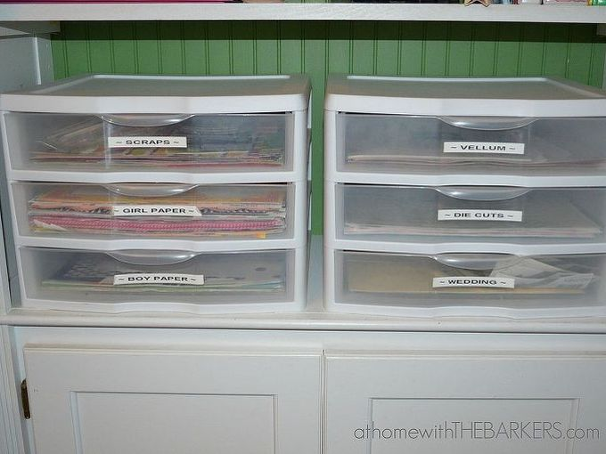 best way to organize scrapbook paper, craft rooms, organizing