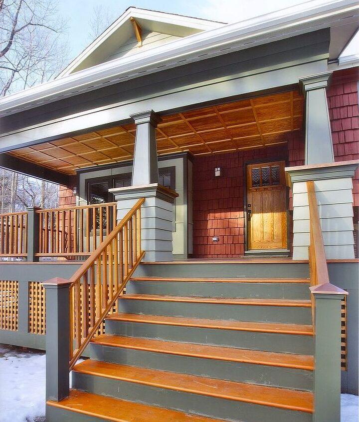 Close up of porch ~ Exterior Renovation by Titus Built, LLC