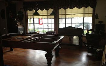 Hardwood floor in my Billiard Room