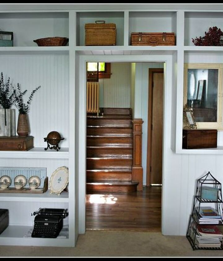 our restyled built ins, home decor, shelving ideas