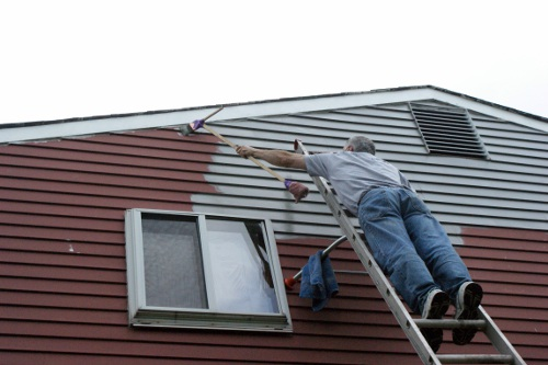 How We Painted Our Aluminum Siding With Brushes Curb Appeal Painting Even