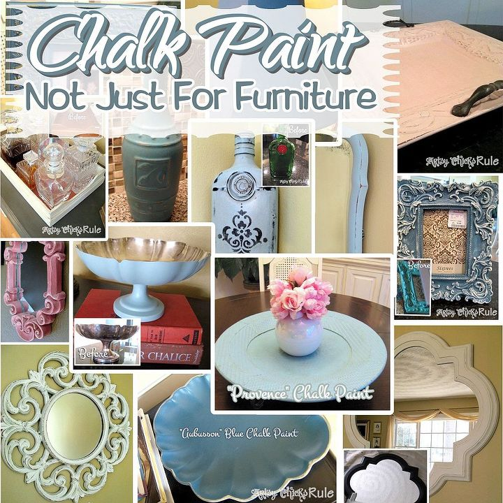 A collage of the many things I've painted with chalk paint!
