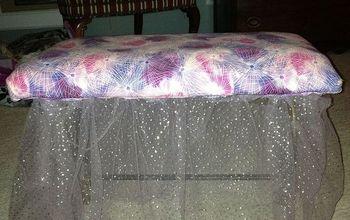 a 3rd vanity stool redo, painted furniture, 3 My 2nd redo for my daughters vanity in her bedroom