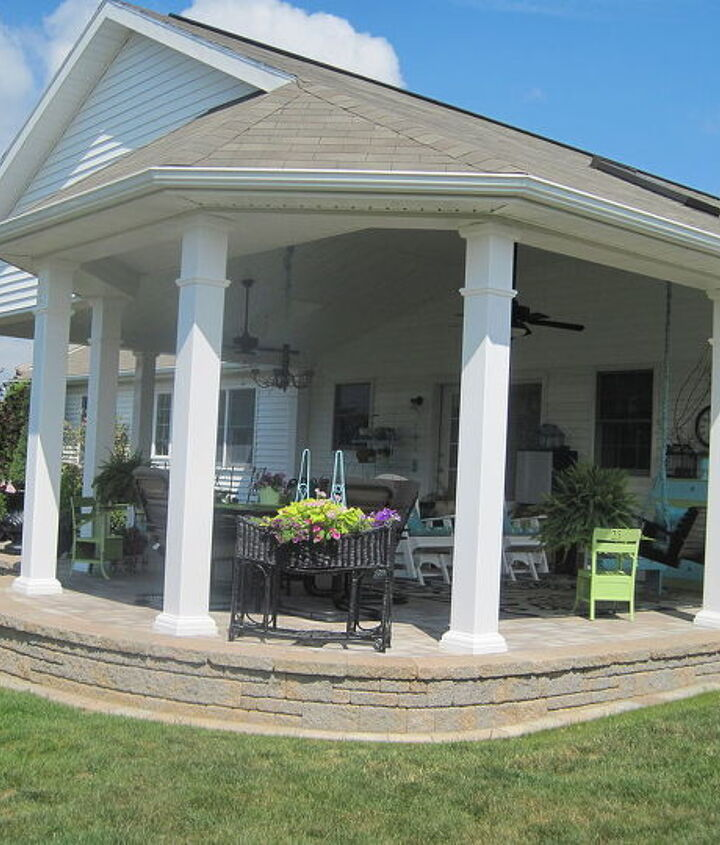 our patio has evolved into an outdoor room and an extension of our home, outdoor furniture, outdoor living, patio