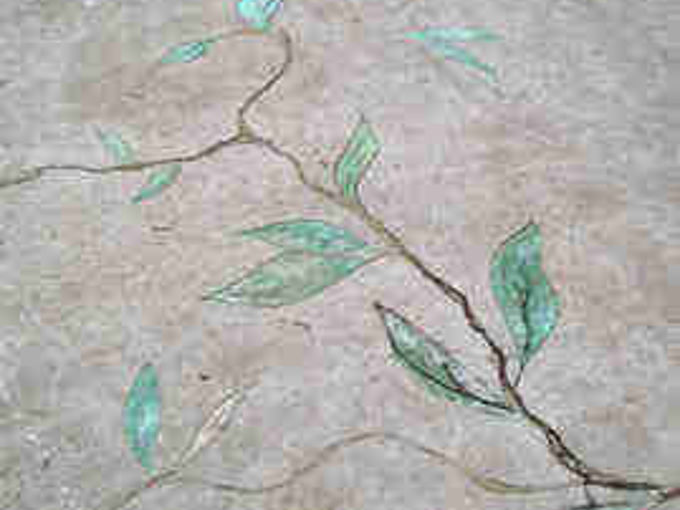 cracked concrete slab into art, concrete masonry, curb appeal, outdoor living, Old cracked concrete used as inspiration for vines and leaves