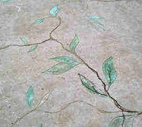 Old Cracked Concrete Used As Inspiration For Vines And Leaves