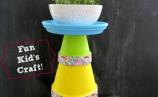 diy terra cotta pot tower, crafts, gardening, DIY Terra Cot Pot Tower I made this pretty Terra Cotta Pot Tower for Mother s Day