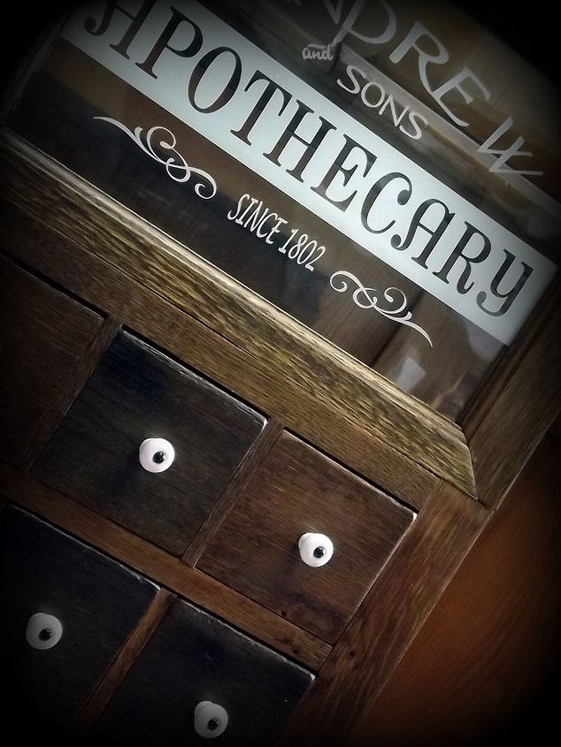 apothecary style medicine cabinet door using salvaged materials, bathroom ideas, doors, home decor, kitchen cabinets