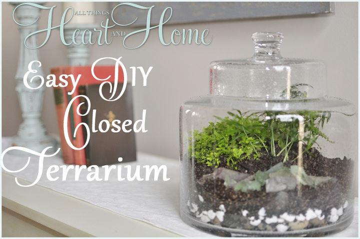 diy terrarium, crafts, gardening, terrarium, Moss and ittie bittie plants make a sweet terrarium
