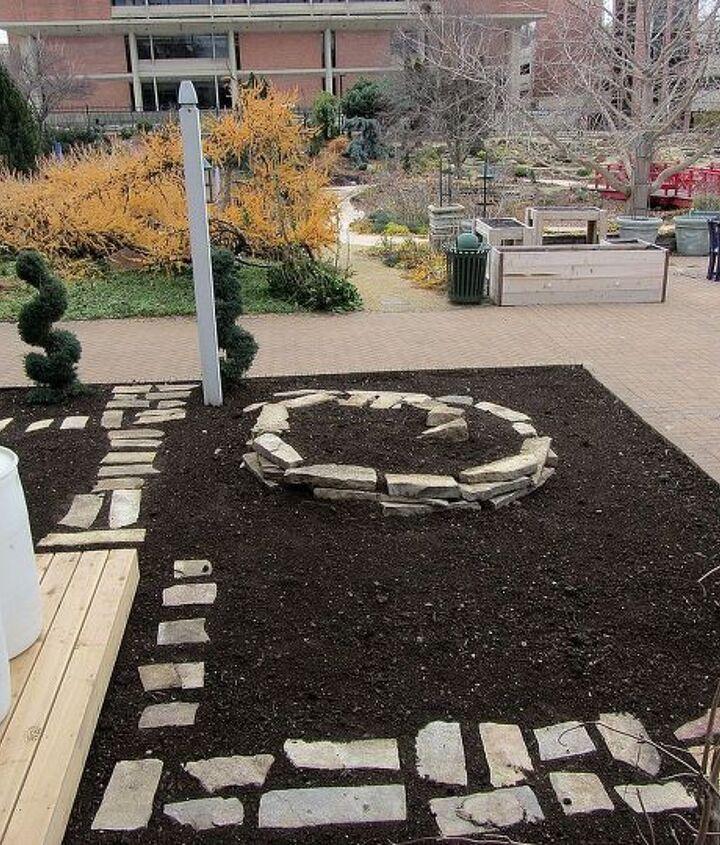 our herb spiral, gardening, landscape