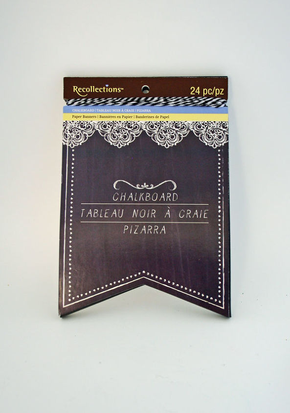 This is the pre-cut and ready to go chalkboard banner you can buy at Michaels. So easy and cute!